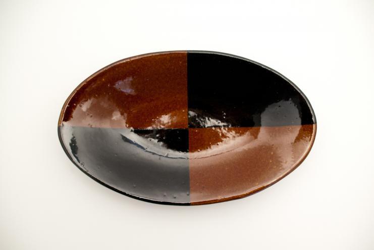 飴釉カレー皿